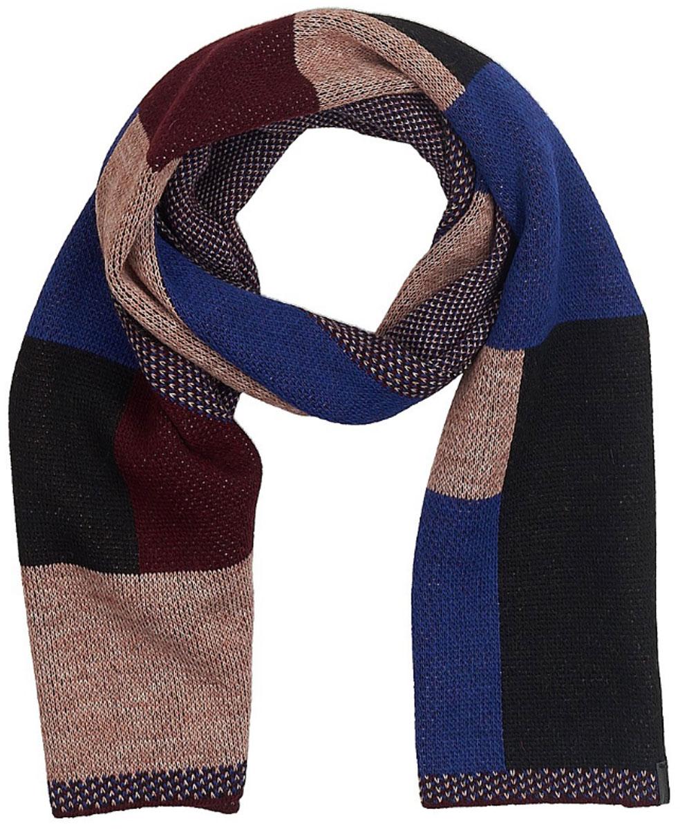 ШарфW0S14U2RHСтильный шарф Wrangler выполнен из акрила и шерсти с добавлением альпаки и вискозы. Модель оформлена оригинальным геометрическим принтом и фирменной нашивкой.