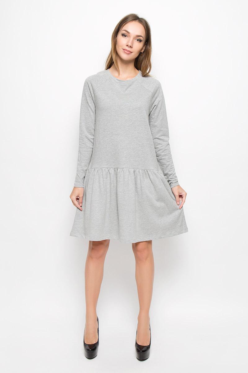 Платье10162871_Decadent ChocolateТеплое платье Vero Moda выполнено из высококачественного хлопка с добавлением полиэстера. Такое платье обеспечит вам комфорт и удобство при носке и непременно вызовет восхищение у окружающих. Модель до колена с длинными рукавами-реглан и с круглым вырезом горловины выгодно подчеркнет все достоинства вашей фигуры. От линии талии заложены частые складочки, которые придают изделию воздушность, дополнена модель двумя боковыми карманами. Вырез горловины дополнен манжетной резинкой. Изысканное платье-миди создаст обворожительный и неповторимый образ. Это модное и комфортное платье станет превосходным дополнением к вашему гардеробу, оно подарит вам удобство и поможет подчеркнуть ваш вкус и неповторимый стиль.