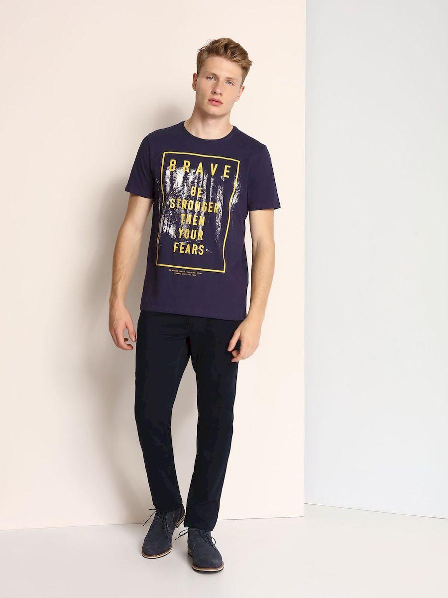 ФутболкаSPO2879GRМужская футболка выполнена из 100% хлопка и оформлена ярким принтом с надписью. Модель со стандартным коротким рукавом и круглым вырезом горловины.