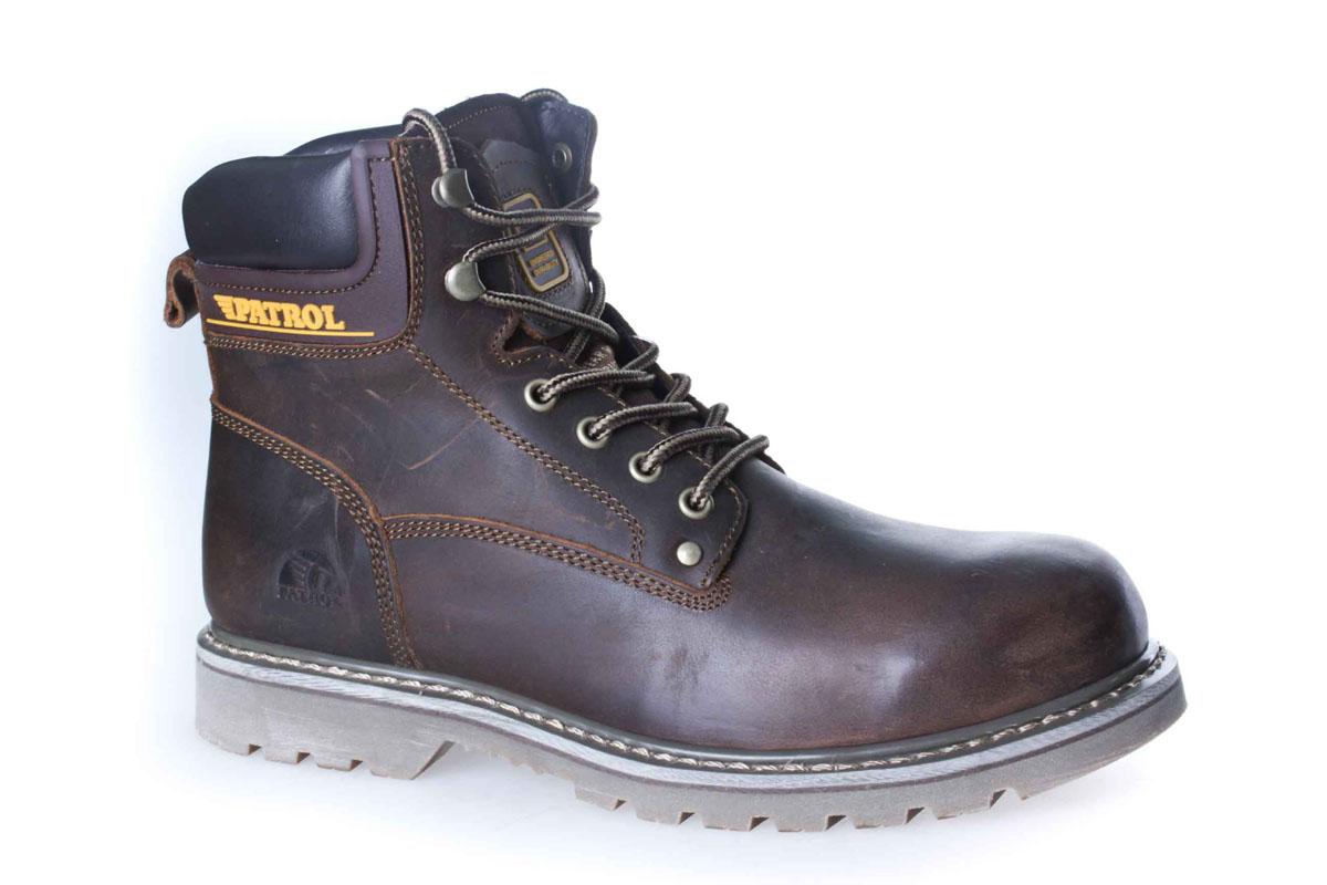756-313M-17w-1-6Уютные и теплые ботинки для мальчика от Patrol выполнены из натуральной кожи. Подкладка и стелька, выполненные из натурального меха, обеспечивают отличную амортизацию и максимальный комфорт. Подошва с протектором гарантирует идеальное сцепление на любой поверхности. Ботинки на ноге фиксируются при помощи классической шнуровки.