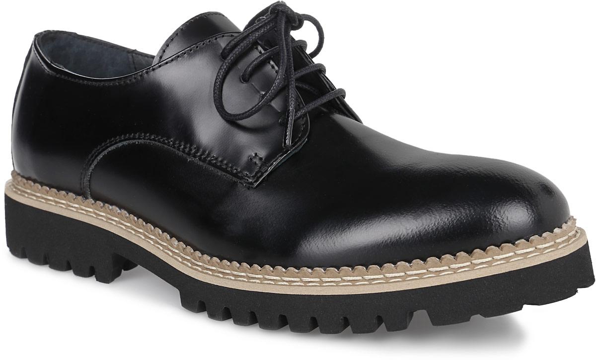 PP271_5816_BLACKЖенские полуботинки от El Tempo выполнены из натуральной кожи. Шнуровка прочно фиксирует обувь на вашей ноге. Подкладка и стелька из натуральной кожи комфортны при ходьбе. Массивный каблук и утолщенная подошва с рельефным протектором обеспечивают отличное сцепление на любой поверхности.