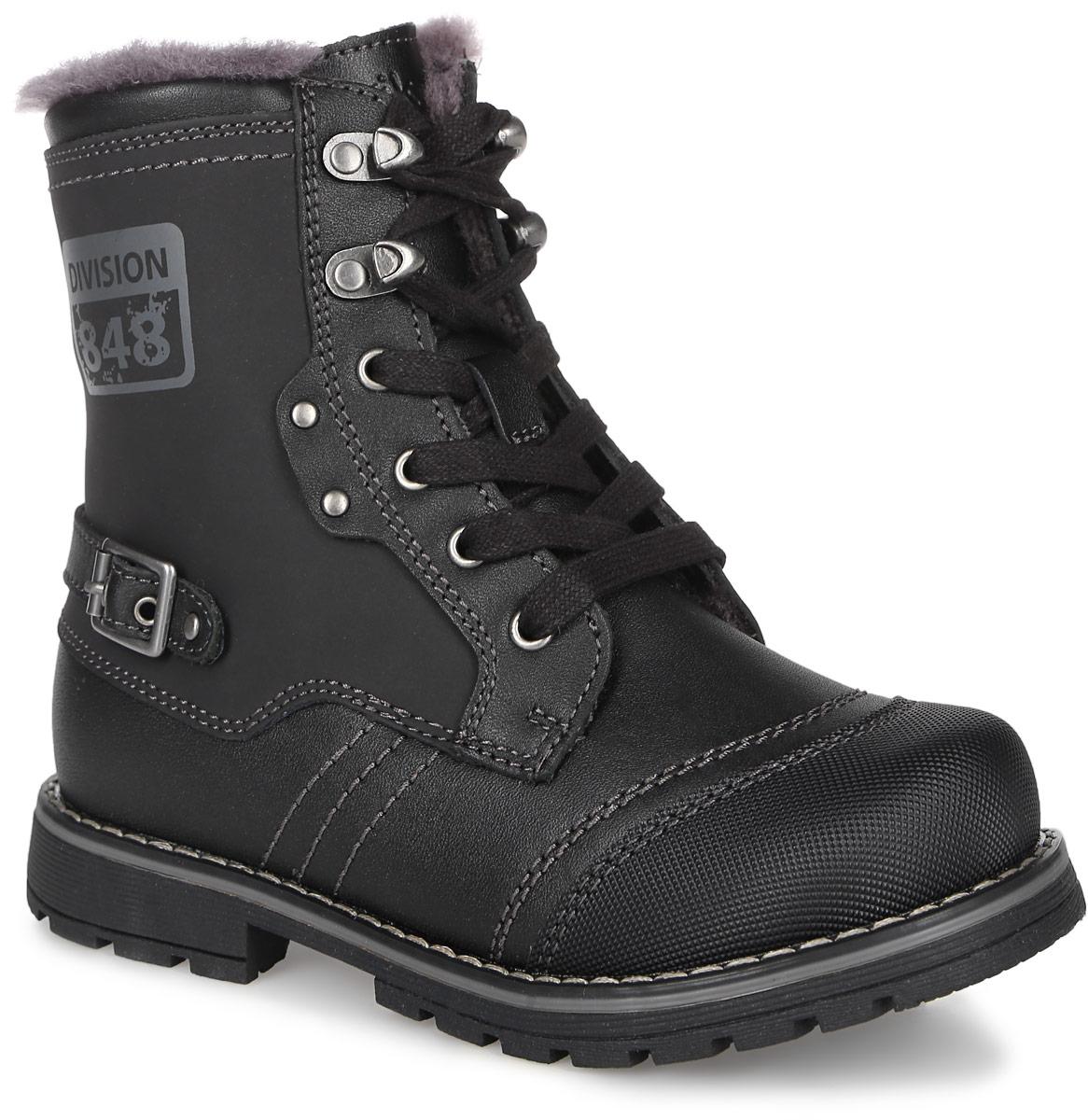 Ботинки63235ш-1Стильные ботинки от Kapika выполнены из натуральной кожи и оформлены декоративной отстрочкой. Изделие застегивается на застежку-молнию и дополнительно имеет шнуровку, что способствует надежной фиксации на ноге. Стелька, изготовленная из натурального овечьего шерстяного меха, отлично сохраняет тепло и надежно защищает от холода, а также создаёт условия для удобного и долговечного использования. Рельефная подошва, выполненная из материала ТЭП, обеспечивает сцепление с любой поверхностью. Материал ТЭП не пропускает и не впитывает воду.