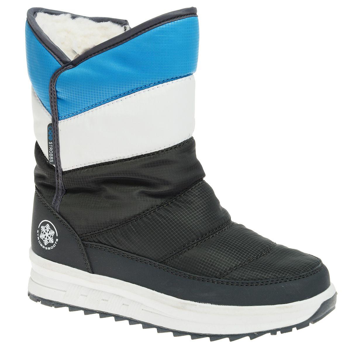 N1843-1Удобные детские дутики Strobbs - отличный вариант для повседневной носки. Модель выполнена из полиэстера с пропиткой и синтетической кожи. Сбоку дутики дополнены застежкой-молнией, благодаря чему их удобно надевать и снимать. Подкладка из искусственной шерсти не даст ногам замерзнуть. Подошва обеспечит легкость и естественную свободу движений. Модель маломерит на 1 размер