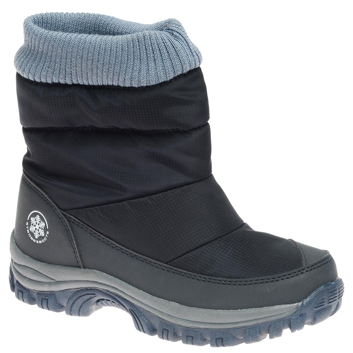 N1840-3Удобные детские дутики Strobbs - отличный вариант для повседневной носки. Модель выполнена из полиэстера с пропиткой и синтетической кожи. Сверху голенище дополнено трикотажной манжетой, которая обеспечивает комфортную посадку модели на ноге. Подкладка из искусственной шерсти не даст ногам замерзнуть. Подошва обеспечит легкость и естественную свободу движений. Модель маломерит на 1 размер