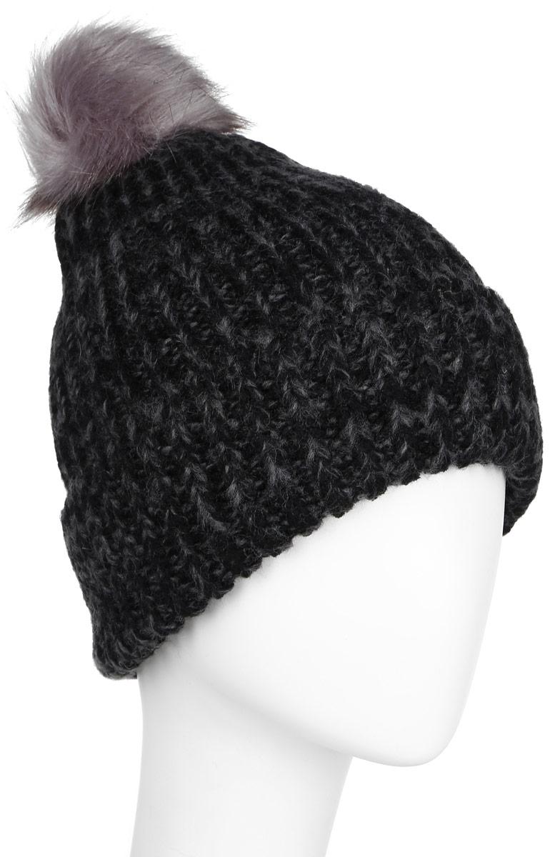 ШапкаHAk-141/020-6404Стильная женская шапка Sela дополнит ваш наряд и не позволит вам замерзнуть в холодное время года. Шапка крупной вязки выполнена из высококачественной пряжи акрила, что позволяет ей великолепно сохранять тепло и обеспечивает высокую эластичность и удобство посадки. Шапка оформлена пушистым помпоном из искусственного меха. Такая шапка станет модным и стильным дополнением вашего гардероба. Она согреет вас и позволит подчеркнуть свою индивидуальность! Уважаемые клиенты! Размер, доступный для заказа, является обхватом головы.