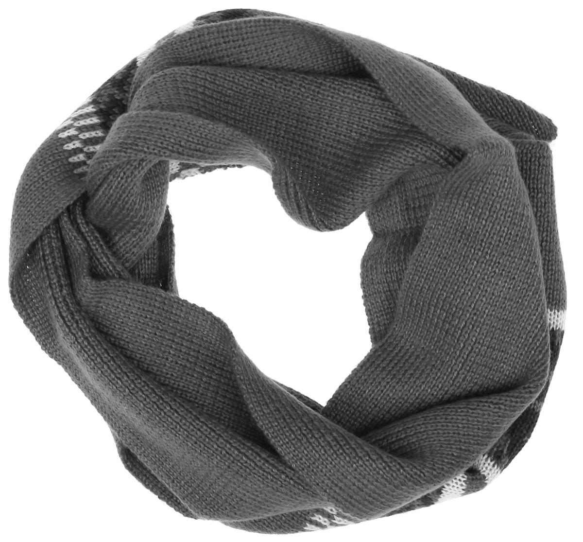 SC-842/054AG-6404Теплый трикотажный шарф для мальчика Sela защитит вашего ребенка от сильного ветра и холода. Выполненный из акрила с добавлением шерсти, он мягкий и приятный на ощупь. Модель оформлена полосками и узорами. Такой шарф станет стильным предметом детского гардероба. В нем ваш ребенок будет чувствовать себя тепло, уютно и комфортно.