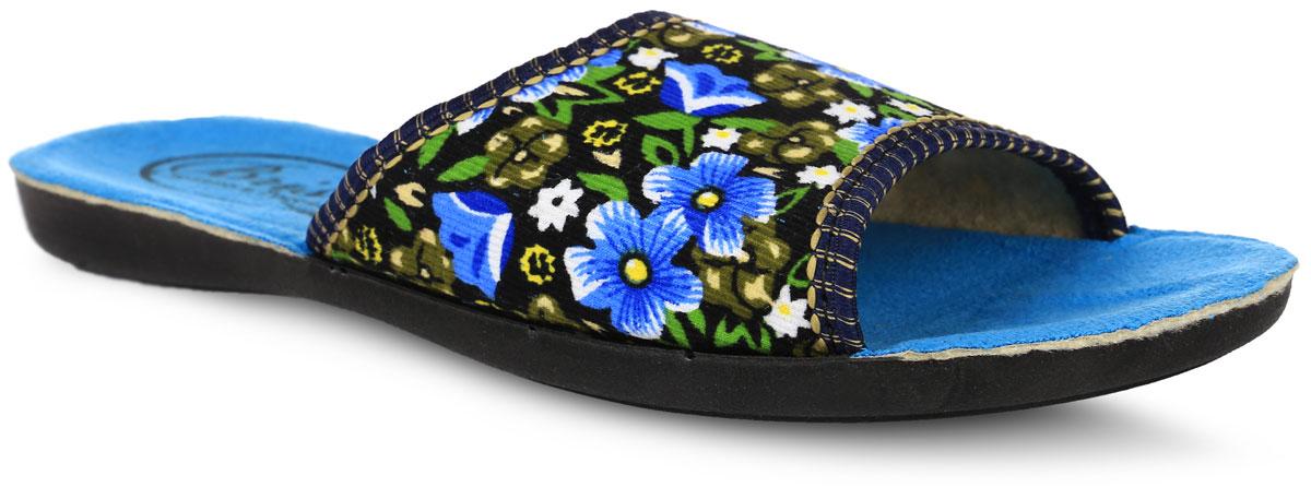 0508-8 В РУТапки от Bris выполнены из качественного текстиля и полиуретана. Модель оформлена оригинальным цветочным принтом. Подкладка и стелька выполнены из мягкого утепленного текстиля. Подошва изготовлена из легкого и гибкого полиуретана.
