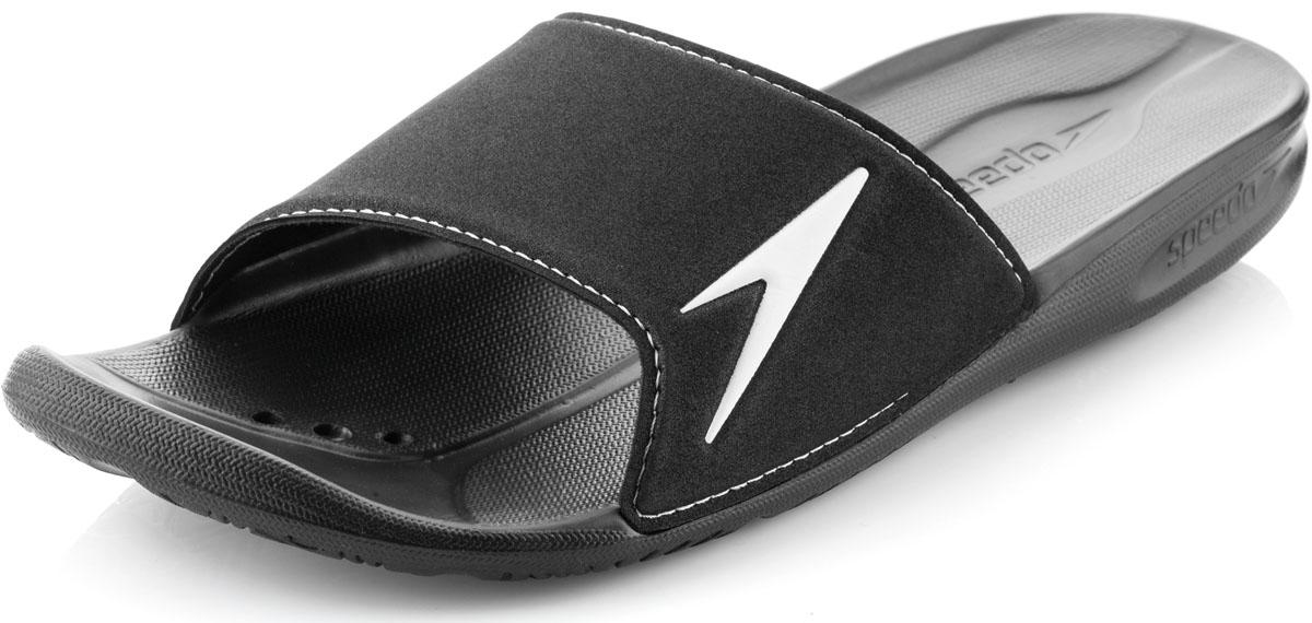 8-090723503-3503Мужские шлепанцы Atami II от Speedo очень удобны и невероятно легки. Верх оформлен логотипом бренда. Рифление на верхней поверхности подошвы, выполненной из ЭВА материала, предотвращает выскальзывание ноги, отверстия в области носка предназначены для слива воды. Специальный рисунок подошвы гарантирует оптимальное сцепление при ходьбе как по сухой, так и по влажной поверхности. Удобные шлепанцы прекрасно подойдут для похода в бассейн или на пляж.