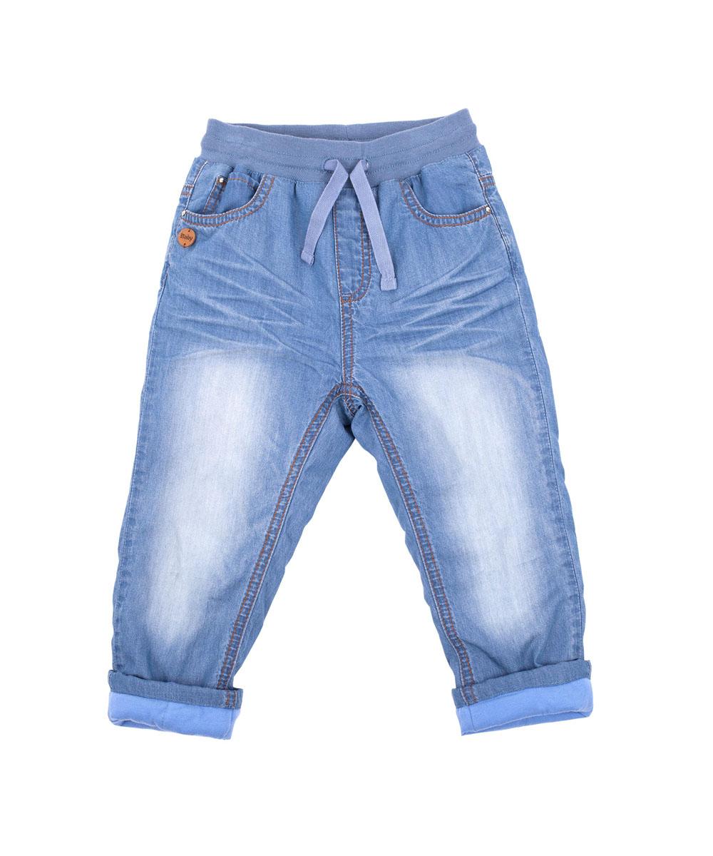 216GBGC6401Утепленные брюки для малышей! Что может важнее для длительных осенних прогулок на свежем воздухе! Их основная функция - сохранение тепла и, вне всяких сомнений, эти брюки с ней справятся на все 100! Удачная конструкция, выверенные пропорции не создают ненужного объема, мешающего свободе движений. Эти модные брюки с потертостями и заминами из синей джинсовой ткани на трикотажной подкладке обеспечивают уют и комфорт.