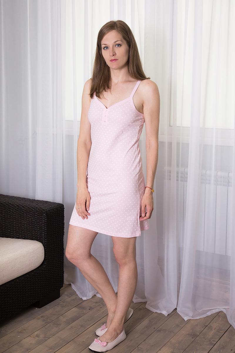 Платье домашнее7117110324Платье домашнее Violett изготовлено из натурального хлопка. Модель на бретельках оформлена цветочным принтом и дополнена пуговицами.