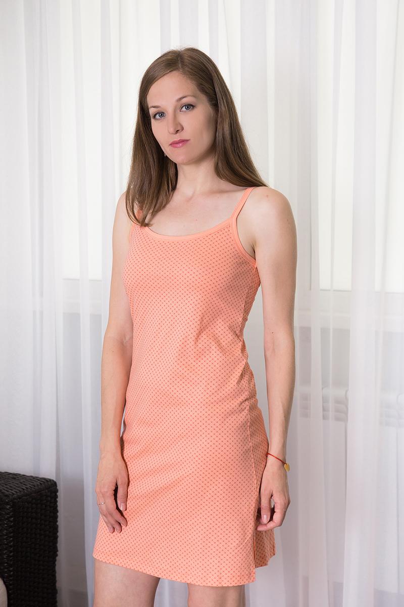 Платье домашнее7117110318Платье домашнее Violett изготовлено из натурального хлопка. Модель на бретельках оформлена интересным принтом.
