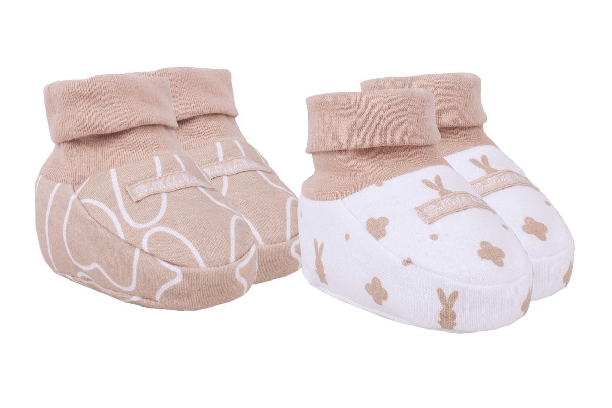 216GBUNC7801Пинетки для новорожденных - обязательный атрибут бельевого гардероба. Комплект из двух пар - оптимальный вариант для первых месяцев жизни ребенка. Мягкие хлопковые пинетки отлично дополнят и домашний, и прогулочный Look. Пинетки с оригинальным детским рисунком, оформленные стильной фирменной нашивкой, выглядят очень нежно и мило. Малышу в пинетках Gulliver Baby будет комфортно и тепло.