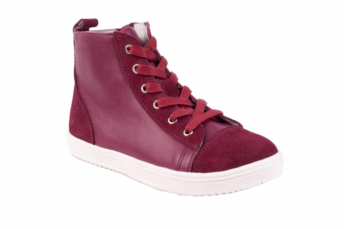Ботинки21601GMS1301Какими должны быть модные ботинки 2016/2017? Именно такими, ведь обувь в спортивном стиле -хит осенне-зимнего сезона! Детские ботинки на подкладке из натуральной кожи выглядят стильно и интересно. Благородная комбинация натуральной замши и искусственной кожи в едином цвете, создают выразительную игру фактур. Детские демисезонные ботинки идеально завершат образ из коллекции Розовый джем, а также могут стать его главным акцентом.