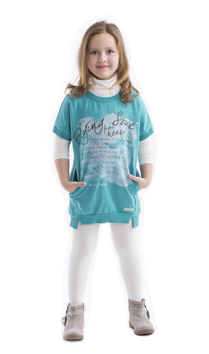 21602GMC1801Детские водолазки - основа повседневного гардероба! Удобные и красивые, стильные детские водолазки способны добавить образу изюминку, а также подарить комфорт и свободу движений. Если вы хотите приобрести модную и удобную вещь на каждый день, вам стоит купить водолазку для девочки с крупным интересным принтом. Нежное трикотажное полотно, чуть расклешенная форма модели обеспечат мягкое и красивое прилегание изделия к фигуре.
