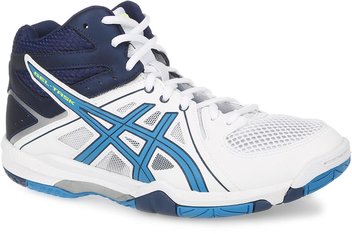 B506Y-0142Стильные мужские завышенные кроссовки для волейбола Gel-Task TM от Asics предназначенные для игроков, которые стремятся к высокой скорости и комфорту. Верх модели выполнен из дышащего текстиля, оформленного вставками из искусственной кожи и фирменными полосками бренда. Искусственная кожа устойчива к трению и разрывам. Дышащий материал обеспечивает легкость, комфорт и воздухопроницаемость. Классическая шнуровка надежно фиксирует модель на стопе. Подкладка, изготовленная из текстиля, гарантирует уют и предотвращает натирание. Стелька из ЭВА с текстильной поверхностью обеспечивает комфорт. Вставка в носке из термостойкого геля на силиконовой основе значительно уменьшает нагрузку на пятку, колени и позвоночник спортсмена, снижая возможность получения травмы. Колодка California предназначена для стабильности и комфорта. Пластиковый литой элемент Trusstic в средней части подошвы препятствует скручиванию стопы. Подошва изготовлена из NC-резины, компоненты...