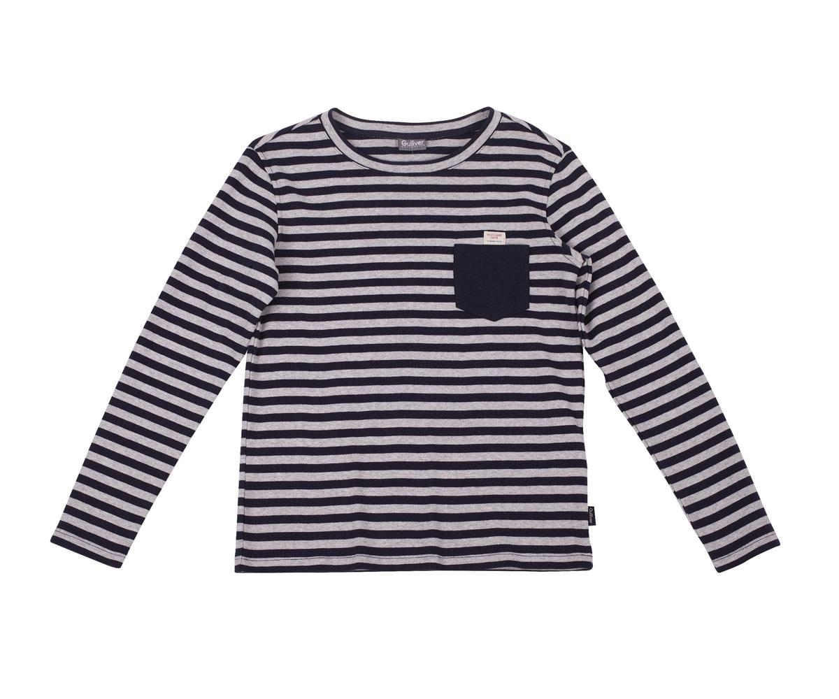 21607BKC1203Детские футболки с длинным рукавом - основа повседневного гардероба!Удобная и красивая, стильная трикотажная футболка в мелкую полоску способна добавить образу изюминку, а также подарить комфорт и свободу движений. Если вы хотите приобрести модную и удобную вещь на каждый день, вам стоит купить классную футболку в полоску. Темный однотонный карман добавляет модели изюминку. Мягкий хлопок обеспечивает прекрасный внешний вид и комфорт в повседневной носке.