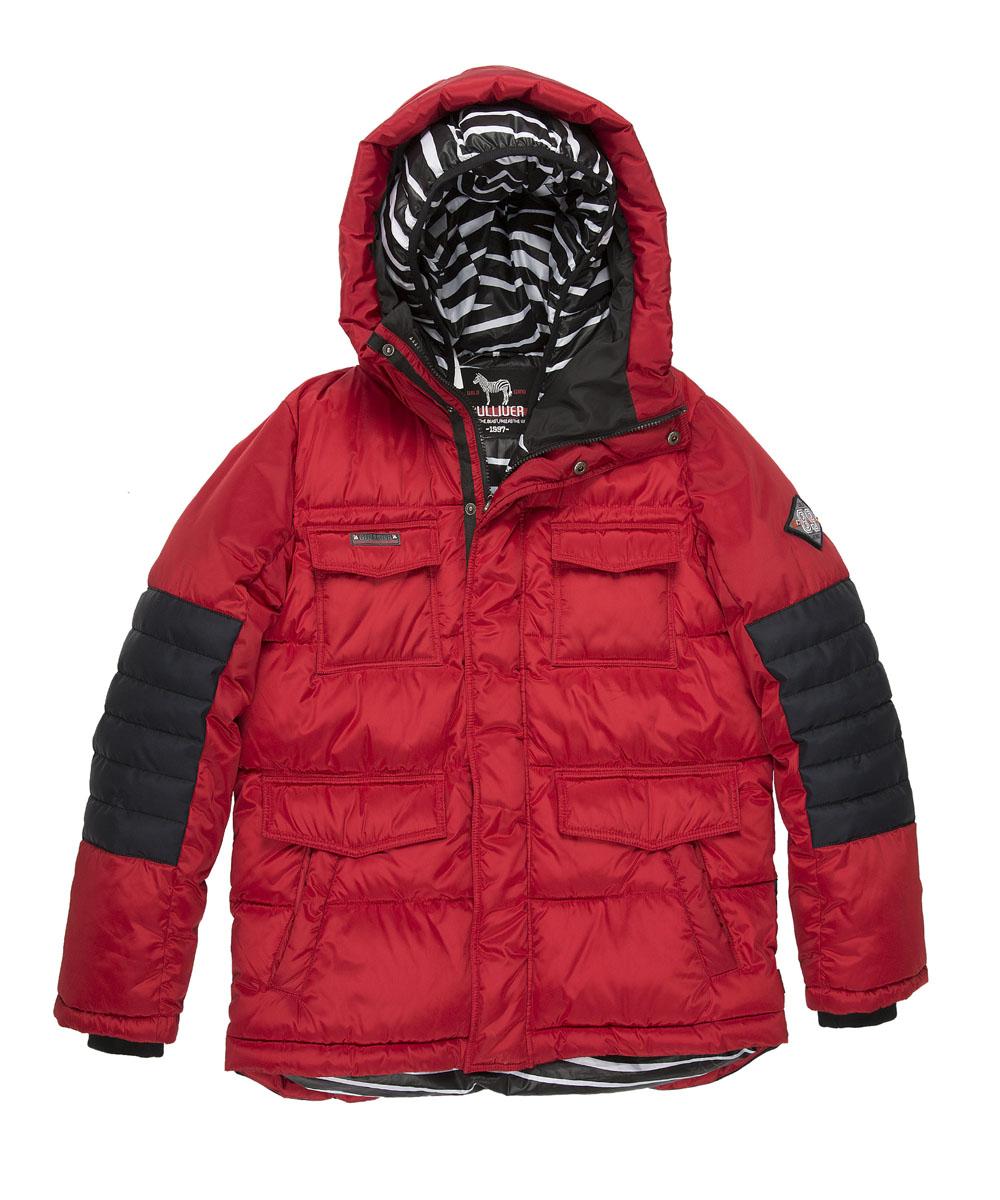 21612BTC4601Какими должны быть куртки для мальчиков? Модными или практичными, красивыми или функциональными? Отправляясь на шоппинг, мамы мальчиков должны ответить на эти непростые вопросы. Куртка от Gulliver упрощает задачу, потому что сочетает в себе все лучшие характеристики детских курток для мальчиков. Яркий цвет, модный силуэт, комфортная длина, множество интересных функциональных и декоративных деталей, контрастная комбинация двух фактур и необычная орнаментальная подкладка изделия делают куртку яркой и привлекательной. Отдельного внимания заслуживает классный элемент - двойной капюшон. Это интересное решение делает пуховик дерзким, смелым, экстравагантным. Классный пуховик подарит своему обладателю отличное настроение, прекрасный внешний вид, комфорт и удобство.