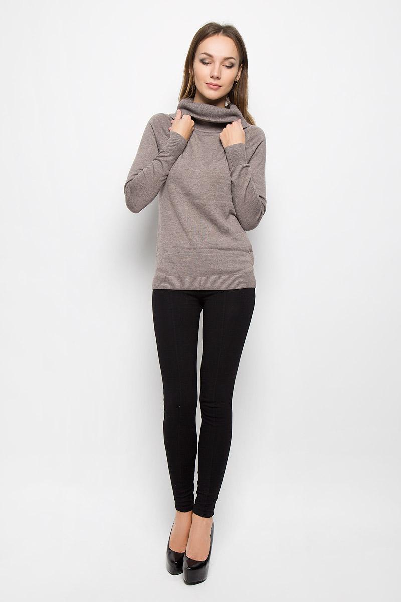 СвитерJR-114/1168-6445Женский свитер Sela Casual изготовлен из мягкого и тактильно приятного материала. Изделие не стесняет движений, обладает высокими дышащими свойствами, обеспечивает комфорт при носке. Свитер с воротником-хомут и длинными рукавами-реглан имеет полуприлегающий силуэт. Воротник, манжеты и низ изделия связаны мелкой резинкой. Уютный свитер великолепно подойдет для создания образа в стиле Casual!