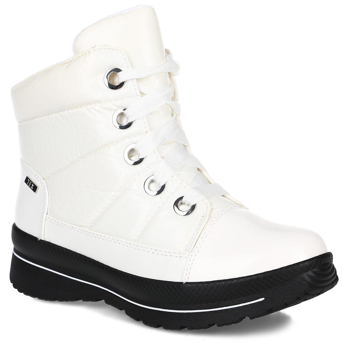 9-26201-25-001Стильные и удобные женские ботинки от Caprice займут достойное место среди вашей коллекции обуви. Модель выполнена из плотного стеганого текстиля со вставками из искусственных материалов. Непродуваемый и непромокаемый верх обуви защитит от непогоды. Между верхним слоем и подкладкой имеется воздухопроницаемая мембрана TEX, которая дополнительно защищает от дождя и ветра. Ботинки застегиваются на застежку-молнию, расположенную на одной из боковых сторон. Шнуровка надежно фиксирует обувь на ноге. Подкладка из шерсти согреет ваши ноги в холодную погоду. Стелька OnAir регулирует воздухообмен и гарантирует снижение давления на стопу. Подошва с протектором отвечает за идеальное сцепление на любой поверхности. В таких ботинках вашим ногам будет комфортно и уютно. Они подчеркнут ваш индивидуальный стиль.
