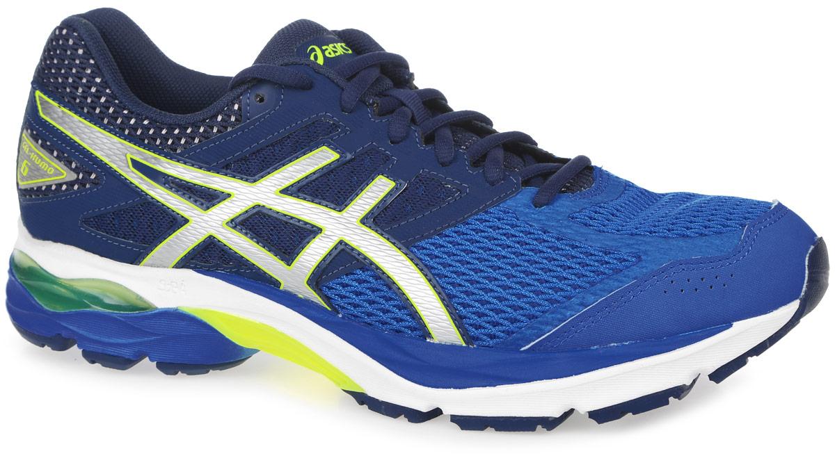 T618N-5893Стильные кроссовки Gel-Kumo 6 от Asics идеальная обувь для бега на длинные и короткие дистанции. Верх модели выполнен из сетчатого текстиля и искусственной кожи. Внутренняя поверхность из текстиля не натирает. Стелька из материала ЭВА с текстильной поверхностью комфортна при движении. Классическая шнуровка надежно зафиксирует изделие на ноге. Двухслойная упругая средняя подошва с технологией SpEVA обеспечивает дополнительную амортизацию. Пластиковый литой элемент Trusstic в средней части подошвы препятствует скручиванию стопы. Вставка в промежуточной подошве из термостойкого геля на силиконовой основе значительно уменьшает нагрузку на пятку, колени и позвоночник спортсмена, снижая возможность получения травмы. Рифление на подошве обеспечивает отличное сцепление с любой поверхностью.