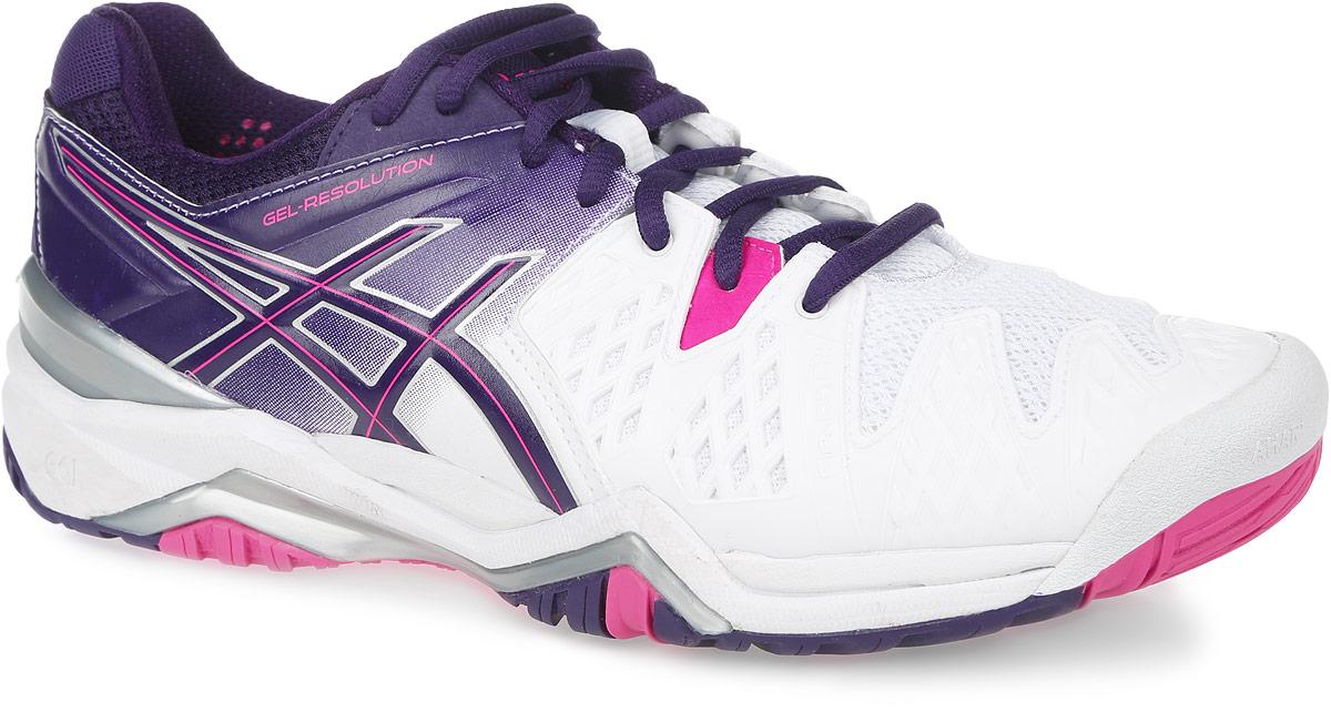 КроссовкиE550Y-0133Стильные женские кроссовки Gel-Resolution 6 от Asics придутся по душе поклонницам тенниса. Верх модели, выполненный из синтетической кожи и дышащего текстиля, дополнен прорезиненными вставками. Конструкция Flexion Fit обеспечивает комфорт и идеальную посадку обуви на ноге. Дышащий материал обеспечивает легкость, комфорт и воздухопроницаемость. Классическая шнуровка надежно фиксирует модель на стопе. Подкладка, изготовленная из текстиля, гарантирует уют и предотвращает натирание. Съемная стелька из материала ЭВА с текстильной поверхностью обеспечивает комфорт. Колодка California предназначена для стабильности и комфорта. Пластиковый литой элемент Trusstic в средней части подошвы препятствует скручиванию стопы. Рифление на подошве гарантирует отличное сцепление с любой поверхностью.