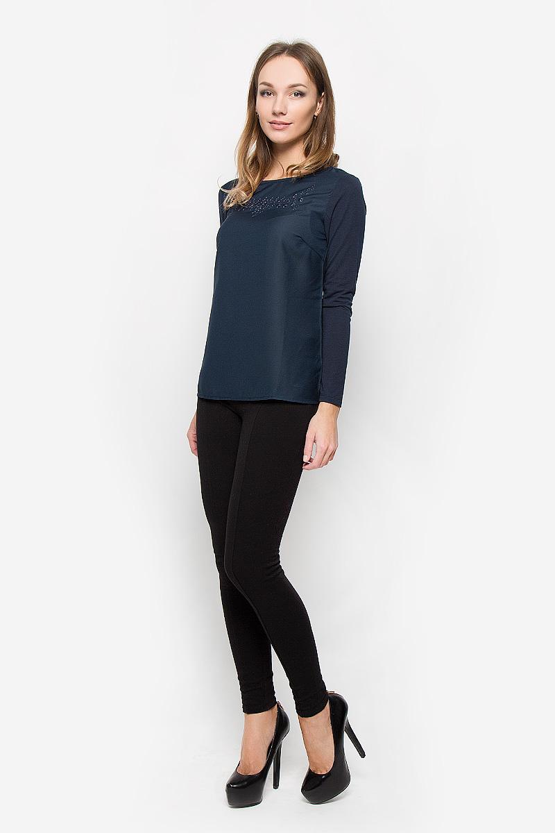 Tw-112/1110-6373Стильная женская блуза Sela Casual, выполненная из полиэстера с добавлением вискозы, подчеркнет ваш уникальный стиль и поможет создать оригинальный женственный образ. Блузка с длинными рукавами и круглым вырезом горловины имеет свободный крой. На груди расположена вышивка с декоративной перфорацией. Эта блузка будет дарить вам комфорт в течение всего дня и послужит замечательным дополнением к вашему гардеробу.