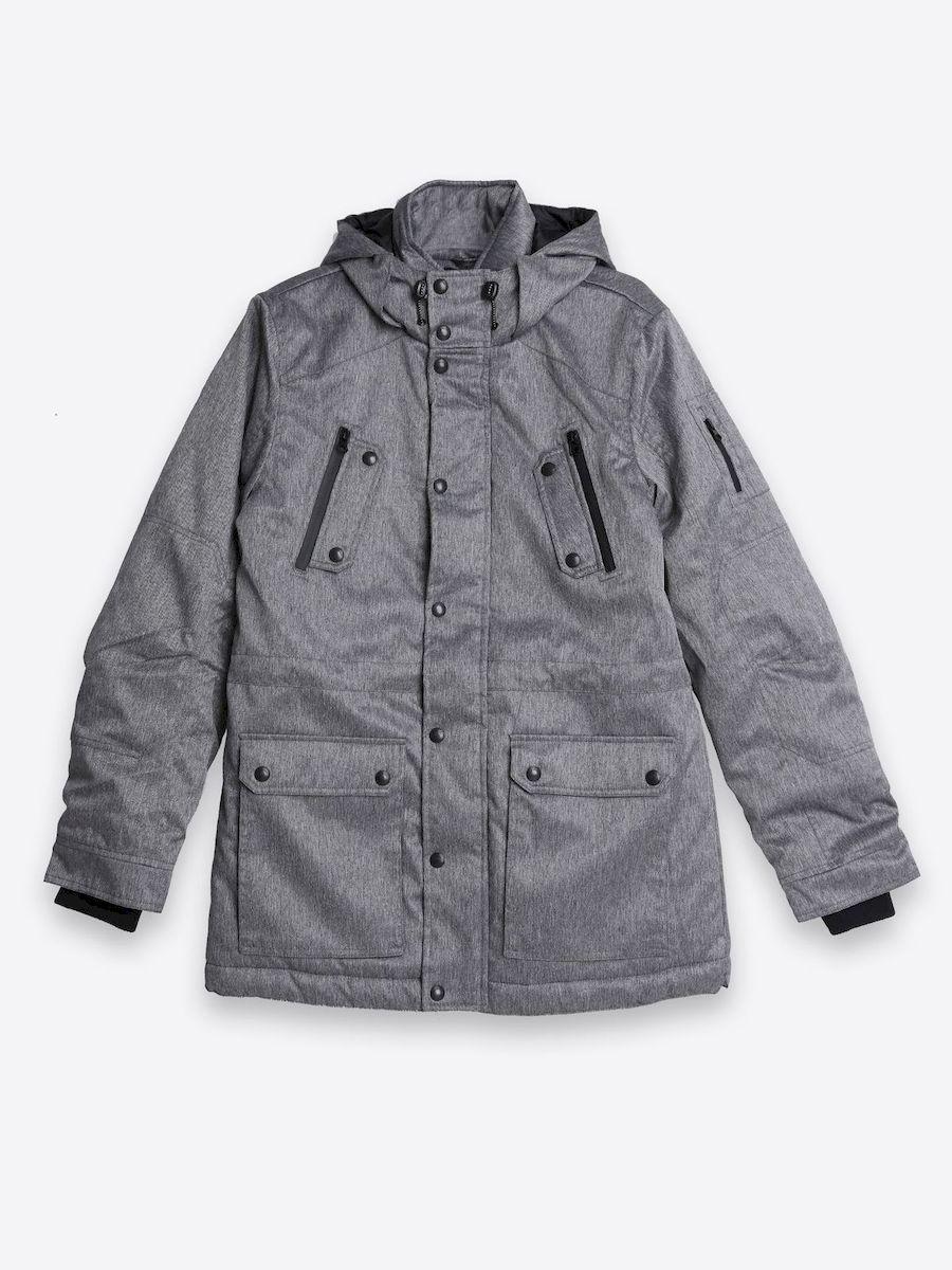 КурткаSKU0719SZСтильная мужская куртка Top Secret изготовлена из высококачественного полиэстера. В качестве утеплителя используется синтепон. Куртка с несъемным капюшоном застегивается на застежку-молнию и дополнительно на ветрозащитный клапан с кнопками. Капюшон, дополненный регулирующим эластичным шнурком. Спереди расположены два накладных кармана с клапанами на кнопках, на груди - два прорезных кармана на молнии, с внутренней стороны - прорезной карман на молнии и накладной открытый карман. Манжеты рукавов дополнены трикотажными манжетами. Низ и талия куртки регулируется при помощи эластичного шнурка со стопперами.