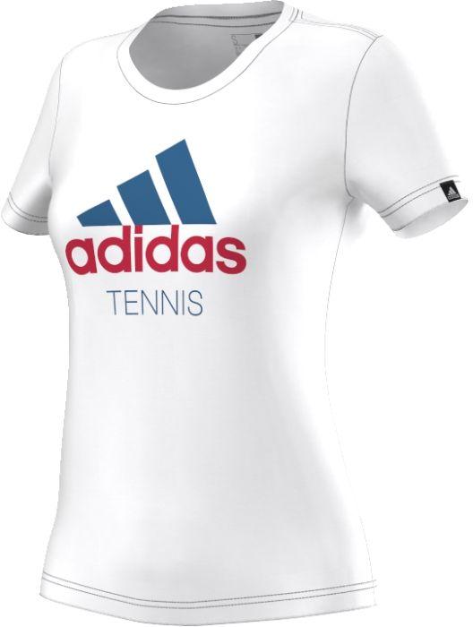 AY5027Футболка Tennis - эта женская теннисная футболка, созданная в коллаборации со Стеллой Маккартни, идеально подойдет для долгих часов на корте. Вентиляция climacool и сетчатые вставки обеспечат комфорт без перегрева во время матчей. Современный приталенный крой.