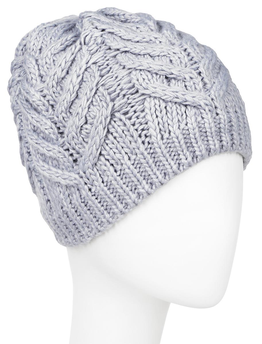 ШапкаHAk-141/019W-6404Вязаная женская шапка Sela выполнена акрила с добавлением шерсти, отлично подойдет для модниц в холодное время года. Она мягкая и приятная на ощупь, обладает хорошими дышащими свойствами и максимально удерживает тепло. Внутри - флисовая подкладка. Изделие оформлено крупным вязаным узором. Такой стильный и теплый аксессуар подчеркнет ваш образ и индивидуальность. Уважаемые клиенты! Размер, доступный для заказа, является обхватом головы.