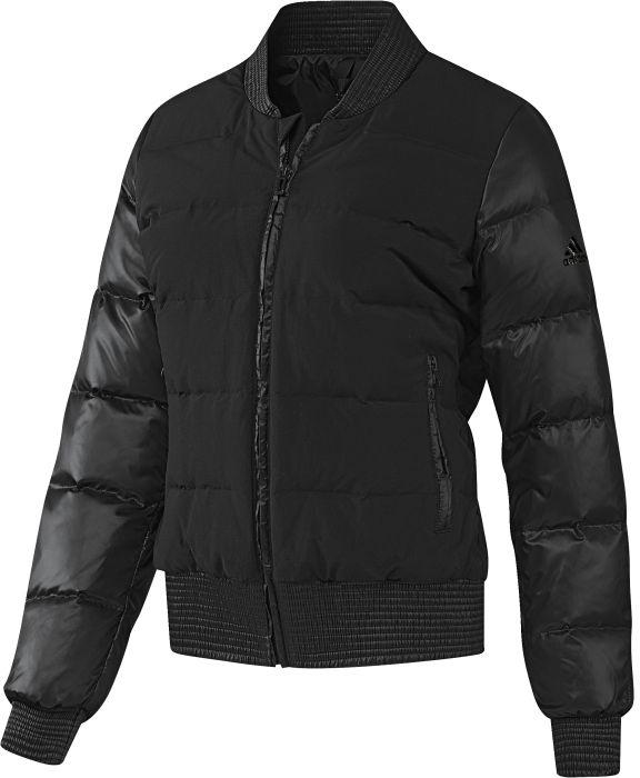 AP8690Уютная куртка, которая защитит от холода. Стильный силуэт бомбера. Натуральный пух превосходно согревает. Приталенный крой и переработанные материалы. Рифленые манжеты, ворот и нижний край; четырехслойная конструкция. Боковые карманы на молниях. Эта модель - часть экологической программы adidas: использованы технологии, сберегающие природные ресурсы; каждая нить имеет значение: переработанный полиэстер сохраняет природные ресурсы и уменьшает отходы производства.
