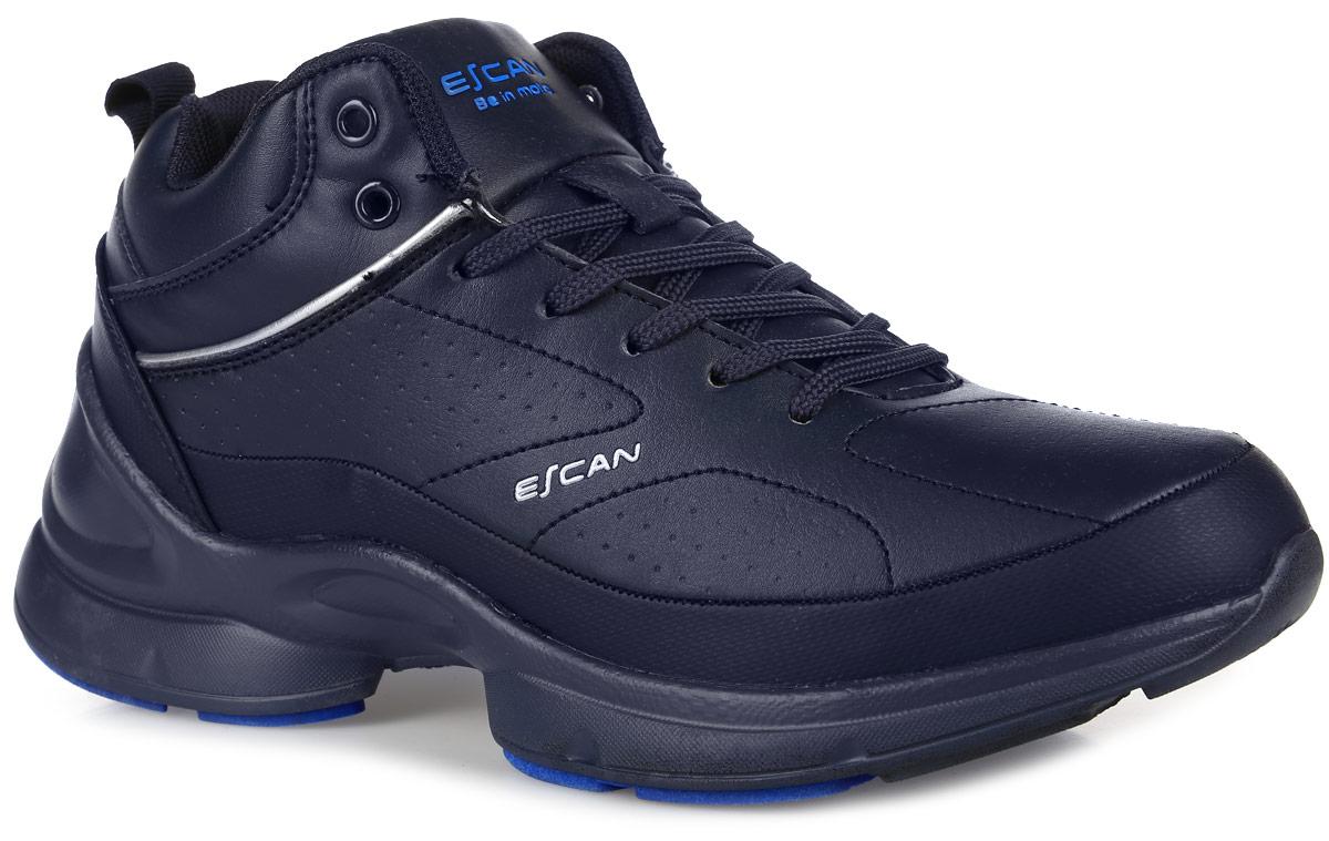 ES830022-3Стильные мужские кроссовки от Escan заинтересуют вас своим дизайном с первого взгляда! Модель выполнена из искусственной кожи. Подкладка и стелька из искусственного меха не дадут ногам замерзнуть. Классическая шнуровка надежно зафиксирует модель на ноге. Подошва с рифлением обеспечивает отличное сцепление с любой поверхностью.