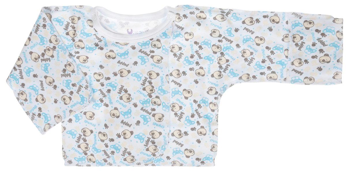 U0049-10Распашонка для новорожденных Unigue с длинными рукавами-кимоно послужит идеальным дополнением к гардеробу вашего малыша, обеспечивая ему наибольший комфорт. Распашонка изготовлена из натурального хлопка, благодаря чему она необычайно мягкая и легкая, не раздражает нежную кожу ребенка и хорошо вентилируется, а эластичные швы приятны телу малыша и не препятствуют его движениям. Распашонка для новорожденного, оформленная оригинальным принтом, выполнена швами наружу. Благодаря системе застежек-кнопок по принципу кимоно модель можно полностью расстегнуть. А благодаря рукавичкам ребенок не поцарапает себя. Распашонка полностью соответствует особенностям жизни ребенка в ранний период, не стесняя и не ограничивая его в движениях. В такой распашонке малышу будет уютно и комфортно.