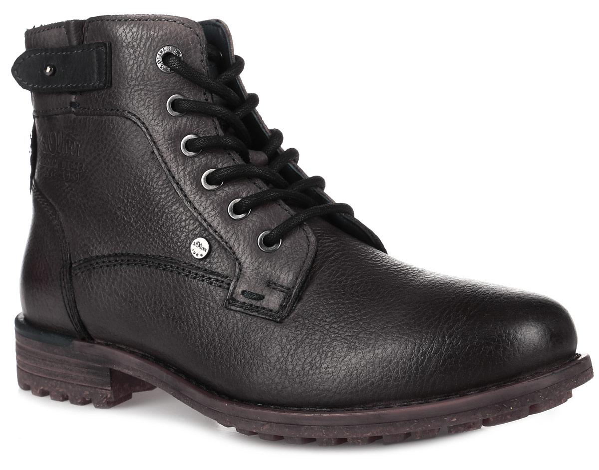 5-5-15204-27-200Стильные мужские ботинки от S.Oliver заинтересуют вас своим дизайном с первого взгляда! Модель выполнена из натуральной кожи. Подкладка из текстиля и стелька из материала ЭВА с текстильной поверхностью обеспечат комфорт. Классическая шнуровка надежно зафиксирует модель на ноге. Боковая застежка-молния позволяет легко снимать и надевать модель. Подошва с рифлением обеспечивает отличное сцепление с любой поверхностью.