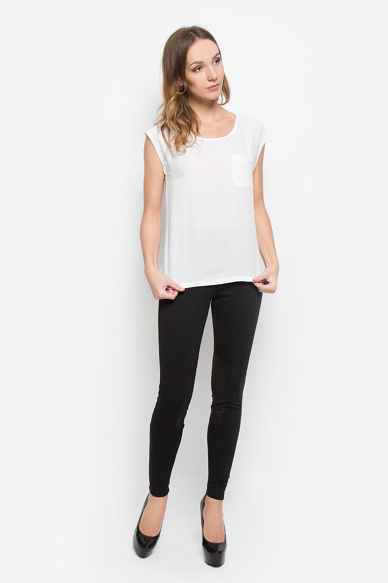 Топ10106_001Женский топ Broadway Naoise станет стильным дополнением к вашему образу. Модель выполнена из комбинированного материала. Передняя часть изделия изготовлена из легкой и воздушной ткани, задняя - из мягкой и эластичной. Топ с круглым вырезом горловины дополнен накладным карманом на груди. Дизайн и расцветка делают этот топ модным и стильным предметом женской одежды, он подчеркнет ваш уникальный стиль.