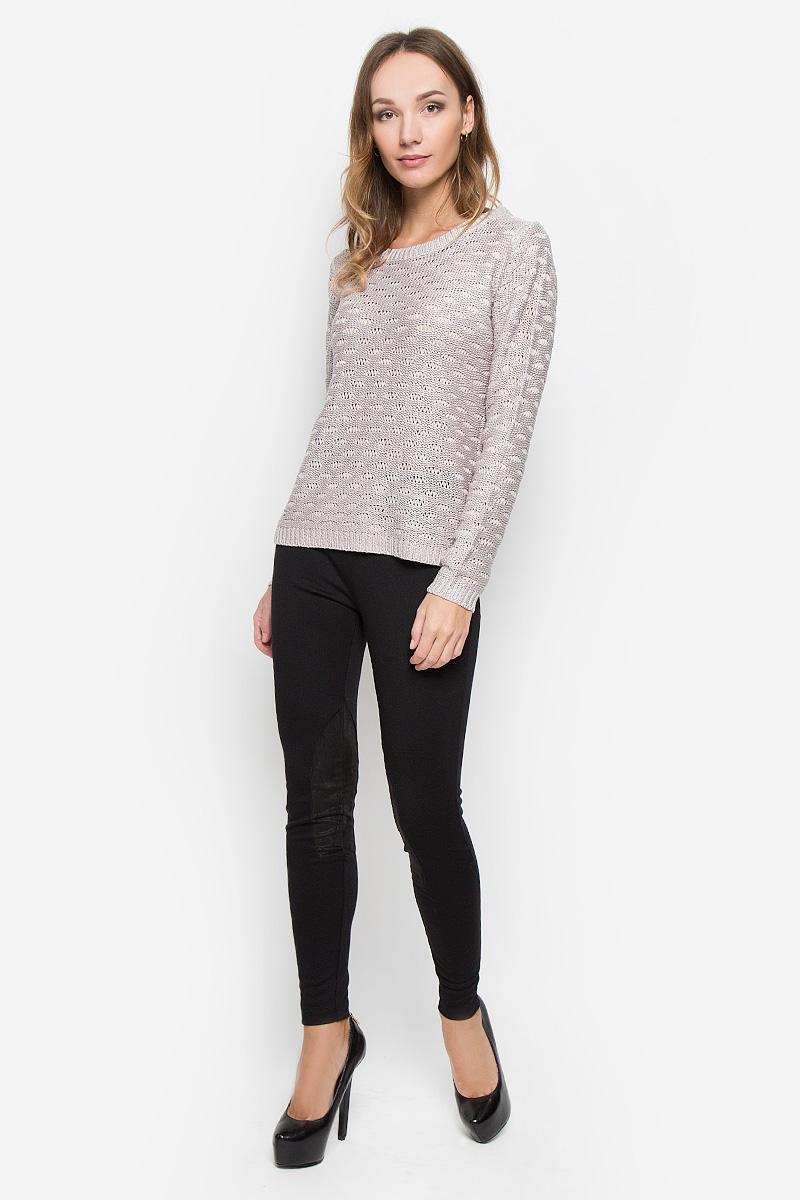 10156684_302Женский пуловер Broadway изготовлен из высококачественной пряжи акрила. Модель с круглым вырезом горловины и длинными рукавами. Низ, манжеты и вырез горловины пуловера связаны резинкой.