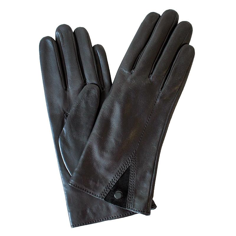 ПерчаткиЭ-21L-1_579Перчатки изготовлены из высококачественной английской кожи Pittards и итальянской кожи Gargiulo на современном технологичном оборудовании. Оформлены вставкой из замши. Продукция соответствует международным стандартам качества.