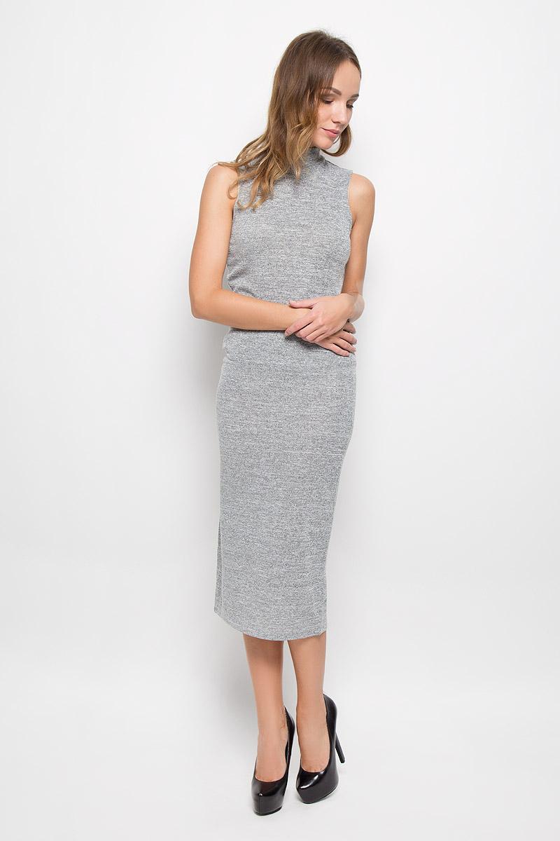 Юбка10156678_807Юбка-карандаш Broadway Nahima выполнена из высококачественного материала, она обеспечит вам комфорт и удобство при носке. Удлиненная юбка без застёжек имеет в поясе мягкую эластичную резинку. Сзади модель дополнена элегантным разрезом. Стильная однотонная юбка-карандаш выгодно освежит и разнообразит любой гардероб.