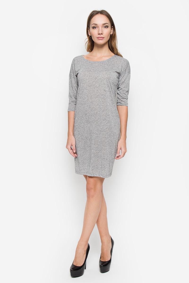 Платье10156683_675Стильное платье Broadway Nataly выполнено из полиэстера с добавлением льна. Модель с круглым вырезом горловины и рукавами со спущенной линией плеча украшена на спинке фигурным вырезом.