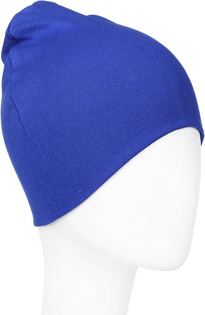 30В00010800Вязаная шапка для мальчика Modniy Juk выполнена из эластичного хлопка. Модель оформлена вышивкой в виде логотипа бренда