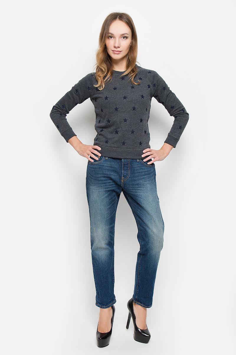 Джинсы1780400580Женские джинсы Levis® 501 CT выполнены из плотного денима. Джинсы в стиле boyfriend застегиваются спереди на пуговицы. На поясе предусмотрены шлевки для ремня. Модель имеет классический пятикарманный крой: спереди - два втачных кармана и один маленький накладной, а сзади - два накладных кармана. Джинсы оформлены эффектом искусственно-состаренной ткани. Рекомендуется носить подкатанными.