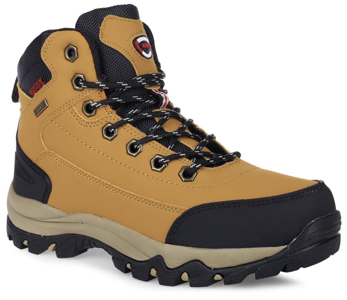 БотинкиF8165-1Стильные ботинки от Strobbs придутся вам по душе. Модель изготовлена из искусственной кожи. Подкладка и стелька, выполненные из искусственного меха, не дадут ногам замерзнуть. Шнуровка надежно фиксирует модель на ноге. Ярлычок на заднике обеспечивает удобное обувание модели. Подошва с протектором гарантирует идеальное сцепление на любой поверхности. Стильные и удобные ботинки - необходимая вещь в вашем гардеробе.