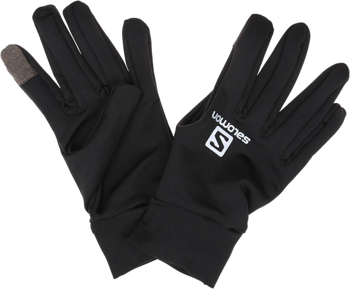 ПерчаткиL39014400Стильные мужские перчатки Salomon Active Glove U выполнены из высококачественных материалов и предназначены для занятий активными видами спорта и для носки в городе в холодную погоду. Модель оформлена логотипом и надписью бренда. Перчатки дополнены возможностью пользоваться тачскрином.