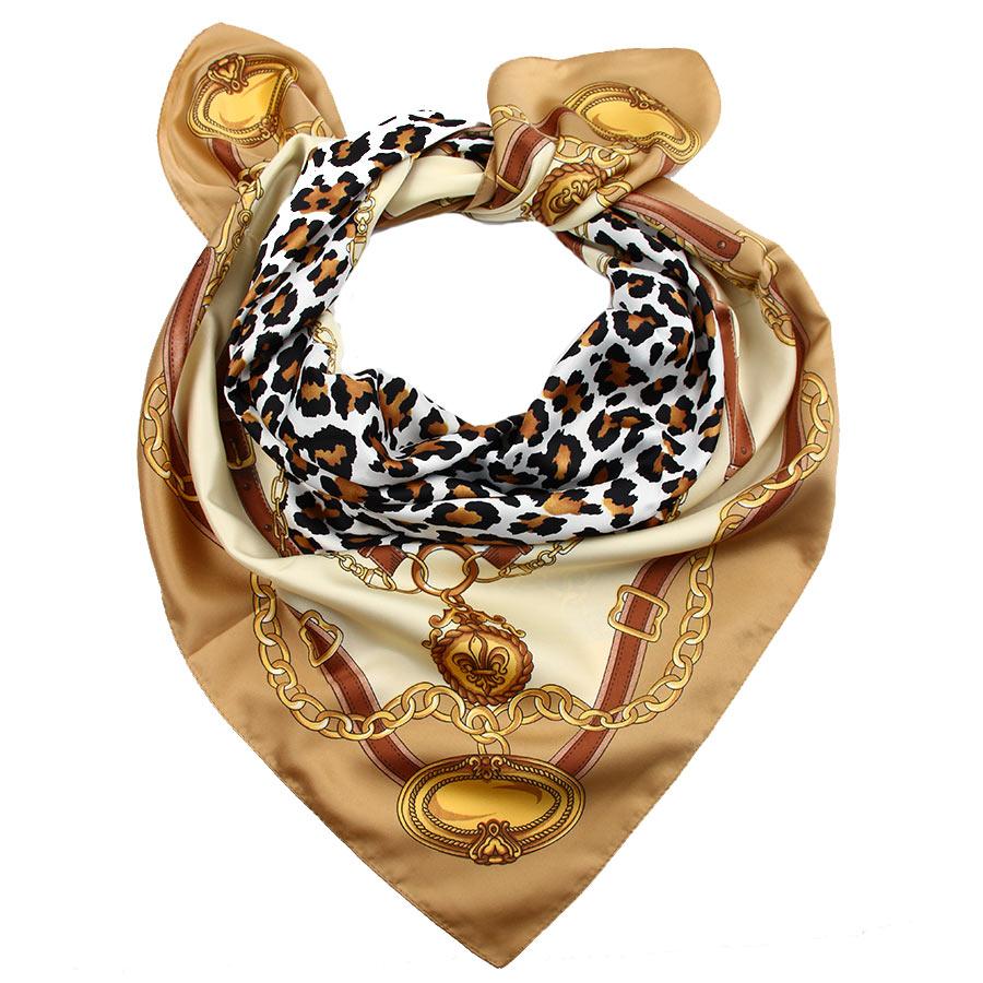 Платок3907833-1Стильный женский платок Venera изготовлен из 100% полиэстера и оформлен оригинальным принтом с изображением ремней. Классическая квадратная форма позволяет носить платок на шее, украшать им прическу или декорировать сумочку. Такой платок превосходно дополнит любой наряд и подчеркнет ваш неповторимый вкус и элегантность.