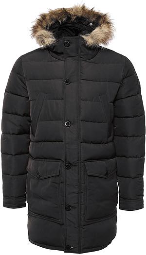 Куртка20100314_879Мужская куртка Broadway выполнена из 100% полиэстера. Изделие дополнено подкладкой из полиэстера и утеплителем из пуха, пера и полиэстера. Модель с несъемным капюшоном и длинными рукавами застегивается на застежку-молнию и имеет ветрозащитную планку на пуговицах. Край капюшона дополнен эластичным шнурком-кулиской со стоплерами и оформлен искусственным мехом. Низ рукавов обработан манжетами на кнопках. Спереди расположено два накладных кармана с клапанами на пуговицах, два открытых боковых кармана и два прорезных кармана на кнопках, а с внутренней стороны - накладной карман на липучке.