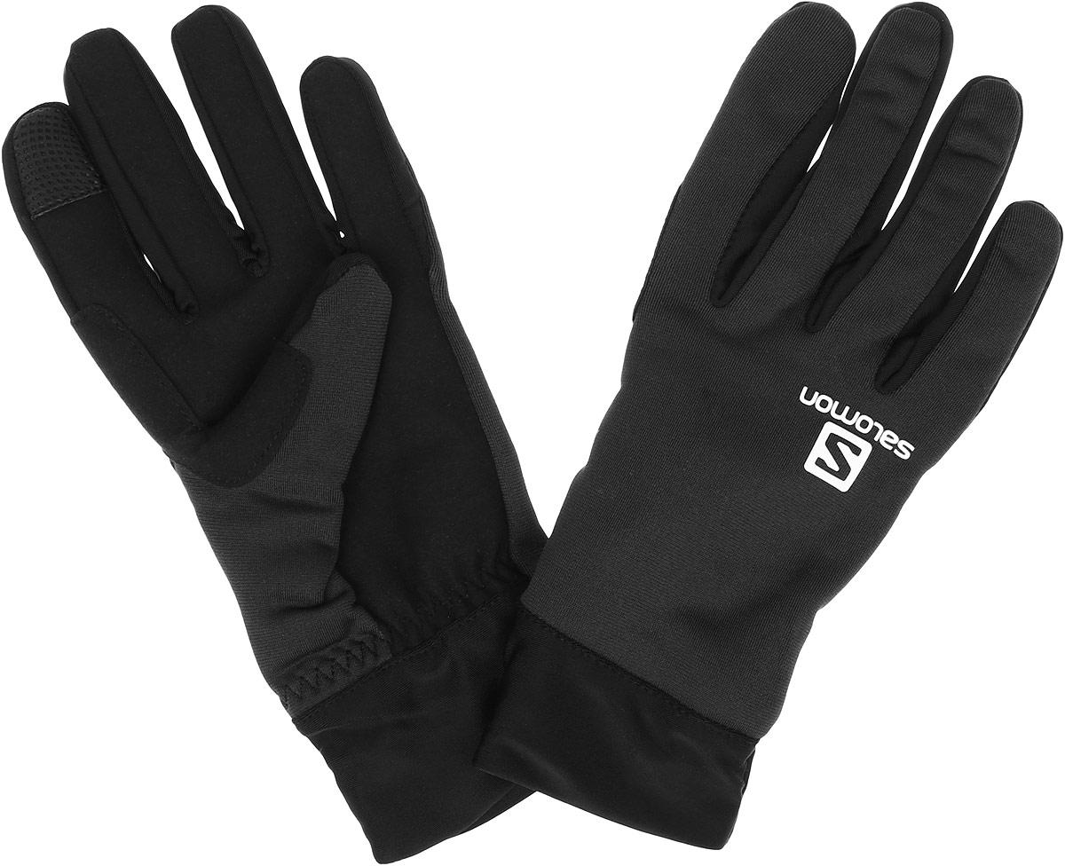 ПерчаткиL39011800Стильные мужские перчатки Salomon Active Glove U выполнены из высококачественных эластичных материалов и предназначены для занятий активными видами спорта и для носки в городе в холодную погоду. Модель оформлена логотипом и надписью бренда. Перчатки дополнены возможностью пользоваться тачскрином.
