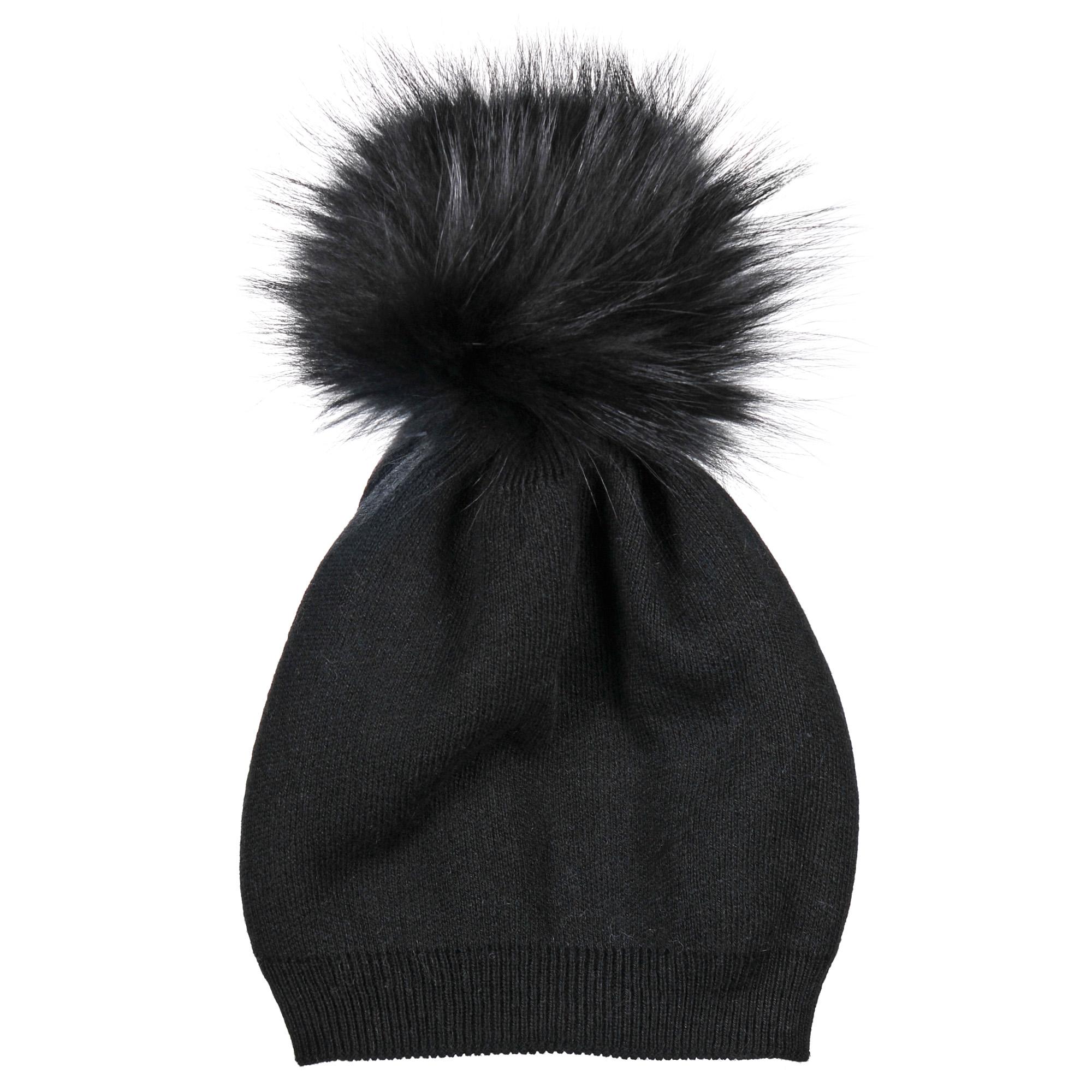 4-0044-023Стильная двуслойная шапка-чулок с шерстью и помпоном из натурального меха. Отличный аксессуар защитит в непогоду и подарит ощущение теплоты.