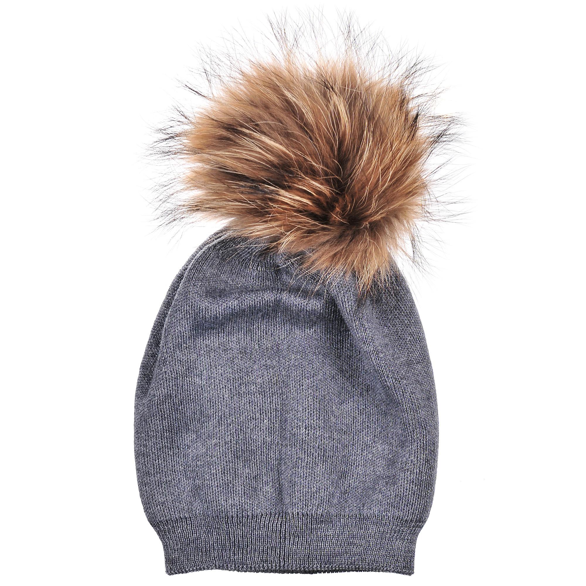 Шапка4-0044-023Стильная двуслойная шапка-чулок с шерстью и помпоном из натурального меха. Отличный аксессуар защитит в непогоду и подарит ощущение теплоты.