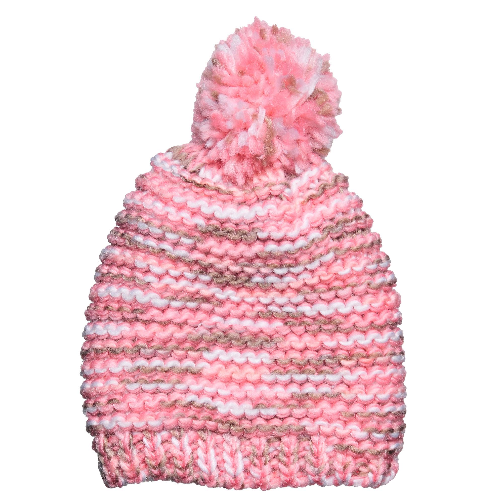 4-0041-117Стильная однослойная теплая шапка с помпоном из акрила. Меланжевая вязка. Отличный аксессуар защитит в непогоду и подарит ощущение теплоты.