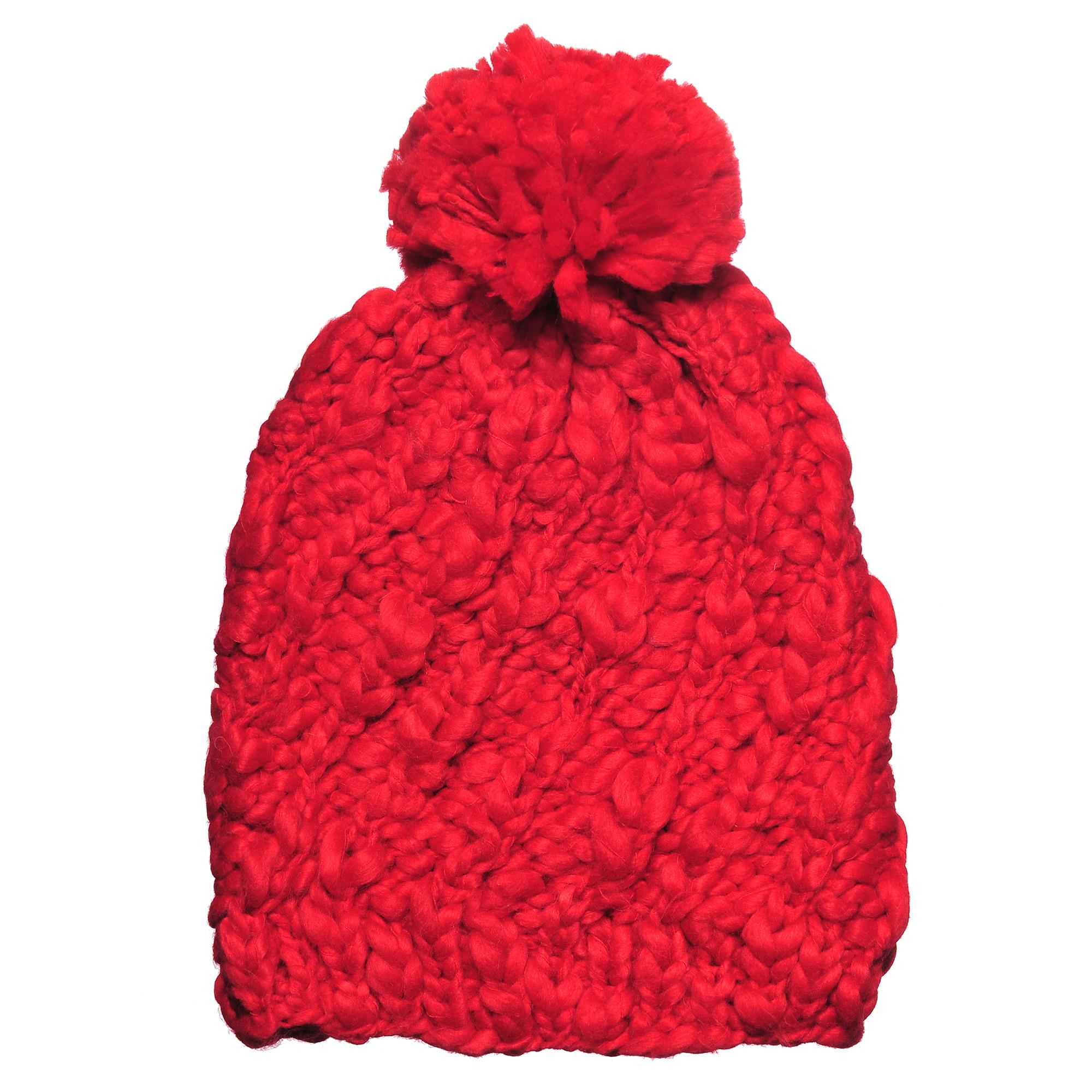 4-0040-001Стильная однослойная теплая шапка с отворотом и помпоном из акрила. Большого размера. Рисунок - коса. Отличный аксессуар защитит в непогоду и подарит ощущение теплоты.