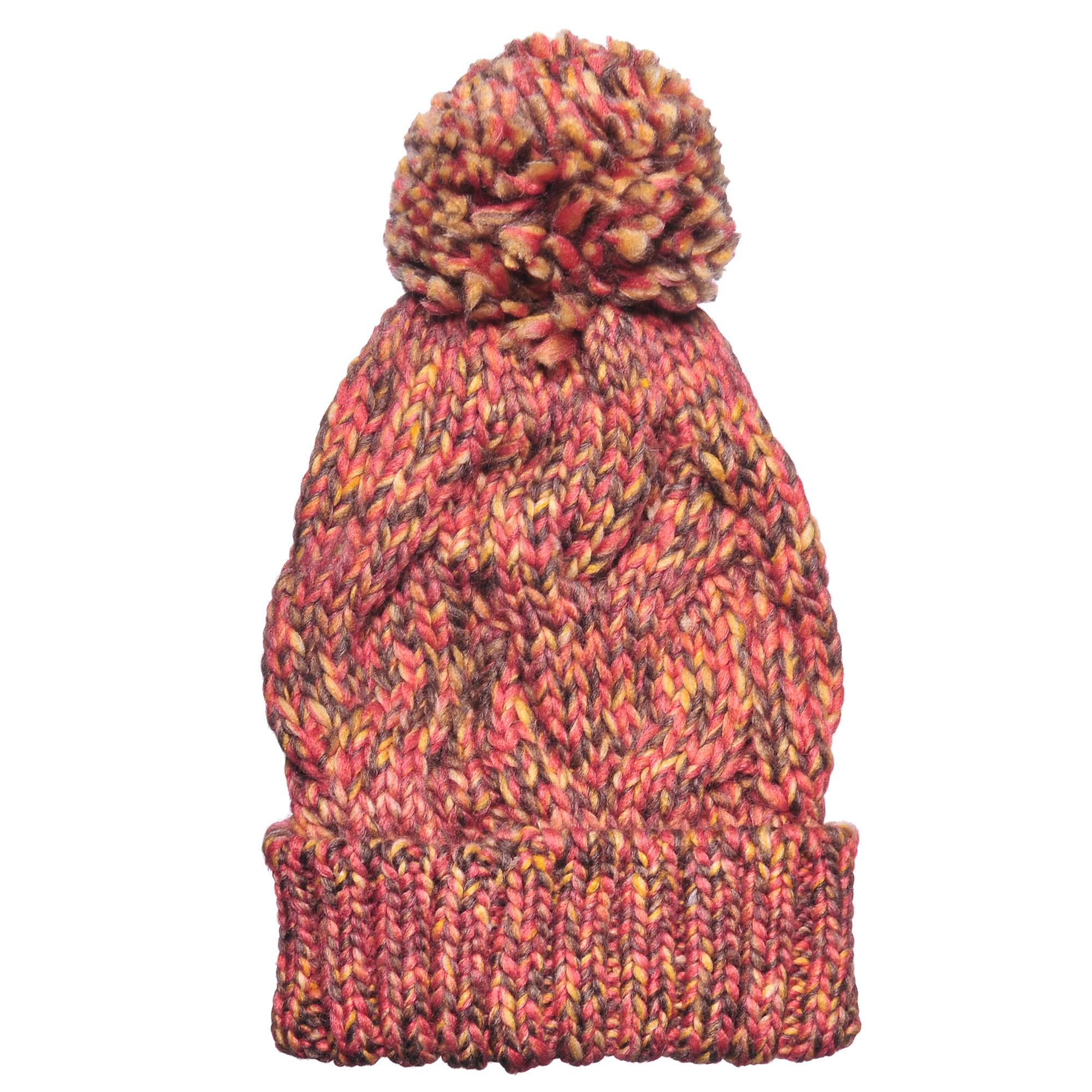 4-0039-124Стильная однослойная теплая шапка с отворотом и помпоном из акрила. Меланжевая вязка. Отличный аксессуар защитит в непогоду и подарит ощущение теплоты.